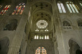Cathedral of Senlis (Oise, Picardy, France), interior — Stock Photo