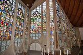 Catedral de janelas de vitral de santa joana d'arc — Fotografia Stock