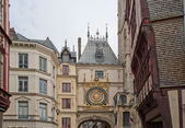 Clock in the Rue du Gros-Horloge, Rouen, France — Stock Photo