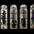 Stained Glass Windows Saint-Malo Cathedral, Brittany, France — Stock Photo