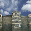 Exterior of Angers Castle (panorama), Angers city, France - Photo