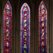 Stained glass windows Church of Saint-Germain-l'Auxerrois, Paris, France — Stock Photo