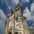 Gothic cathedral of Saint Gatien (built between 1170 and 1547), Tours, France — Стоковая фотография