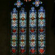 Stock Photo: Stained glass window. Gothic cathedral of Saint Gatien (built between 1170 and 1547), Tours, France