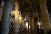 内部的巴黎圣母院巴黎,法国 — 图库照片