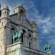 Basilica of the Sacred Heart of Paris, France - 图库照片