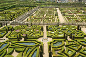 Ornamental gardens near castle of Villandry, France — Stock Photo