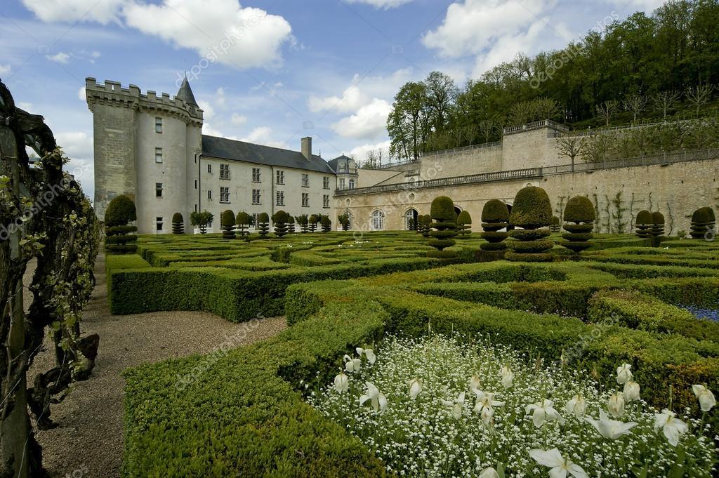 Villandry kasteel en de tuin de loirevallei frankrijk stockfoto vladj55 14434671 - Alle tuin ...