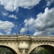 Paris, France. Bridge over the River Seine — Stock Photo #14762957