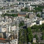 The city skyline at daytime. Paris, France — Stock Photo