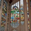 ストック写真: Stained glass windows Cathedral of St. Joof Arc