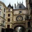 Clock in Rue du Gros-Horloge, Rouen, France — Stock Photo #14779385