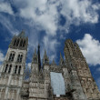 Roman Catholic Gothic cathedral in Rouen - Foto de Stock