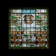 Stained glass window. Benedictine Palace Museum — Stock Photo
