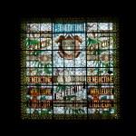 Stained glass window. Benedictine Palace Museum — Stock Photo