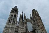 Roman Catholic Gothic cathedral in Rouen — Stock Photo