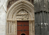 Roman Catholic Gothic cathedral in Rouen, France — Stockfoto