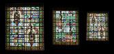 Vitral. museo del palacio benedictino — Foto de Stock