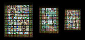 Stained glass window. Benedictine Palace Museum — Stockfoto
