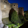Exterior of Angers Castle at night , Angers city, France — Stock Photo