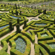 Ornamental gardens near castle of Villandry, France — Stockfoto