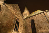 Saint-Malo Cathedral at night, Brittany, France — Stock Photo