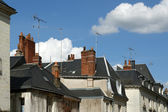 The medieval district of the city Tours, France — Stock Photo