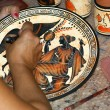 Pottery by making copies of ancient Greek vases — Stock Photo