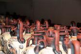 Tienda de souvenirs de cerámica, jarrones griegos tradicionales — Foto de Stock