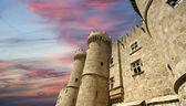 Rodos Ortaçağ Şövalyeleri kale (saray), Yunanistan — Stok fotoğraf