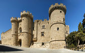 Rhodes Medieval Knights Castle (Palace), panoramic view, Greece — Stock Photo
