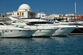Rhodos eiland landmark, haven mandraki, Griekenland — Stockfoto