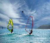 Wind Surfers On The Ocean — Stock Photo