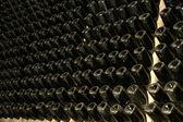 Perspective de bouteilles de vin — Photo