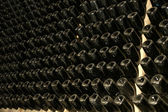 Wine bottles perspective — Stock Photo