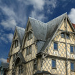 Front of the House of Adam, old half-timbered house, France — Stock Photo