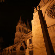 Foto Stock: Saint-Maurice Cathedral at night, Angers, France