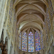 Stained glass window. Gothic cathedral of Saint Gatien — Stock Photo #16815877