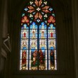 Stained glass window. Gothic cathedral of Saint Gatien — Stock Photo #16815895