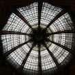 Ceiling of the Lafayette luxury shopping mall in Paris - Stock Photo