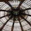 Stock Photo: Ceiling of Lafayette luxury shopping mall in Paris