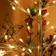 Glowing Christmas electric garland — Stock Photo