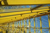 Glazen galerij op de brug. moskou. rusland. — Stockfoto