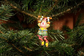 Christmas ornaments on a tree, closeup. — Foto Stock