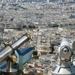 Telescope viewer and city skyline at daytime. Paris, France — Stockfoto