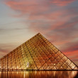 Louvre Palace and Pyramid, , France — Stockfoto #18193305