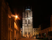 Saint-Maurice Cathedral at night, Angers in France — Stock Photo