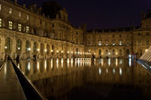 The Louvre Palace and the Pyramid, , France — Stock Photo