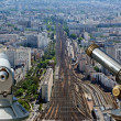 Telescope viewer and city skyline at daytime. Paris, France. — Stock Photo #18405397