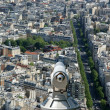 Telescope viewer and city skyline at daytime. Paris, France. — Stock Photo #18405533